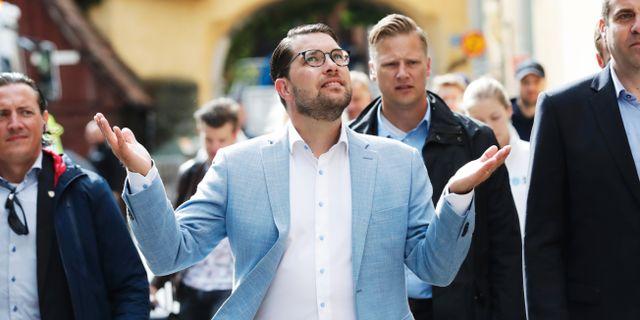 SD:s partiledare Jimmie Åkesson. Arkivbild. Adam Ihse /TT / TT NYHETSBYRÅN