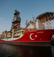 Ett turkiskt prospekteringsfartyg.  Emrah Gurel / TT NYHETSBYRÅN