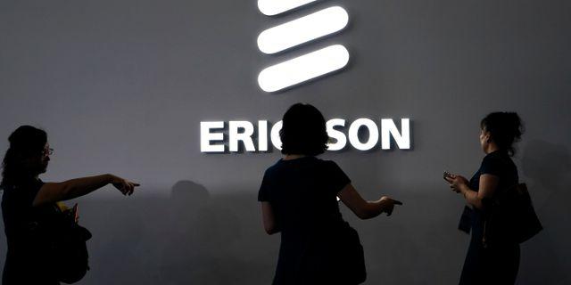 Ericssons logga.  ALY SONG / TT NYHETSBYRÅN