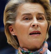 Arkivbilder. EU-chefen Ursula von der Leyen, skogsbruk, vattenkraftverk i Porjus. TT