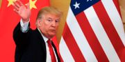 Donald Trump kommenterar protesterna i Hongkong. Andy Wong / TT NYHETSBYRÅN