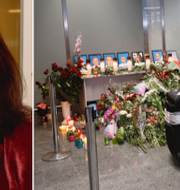 Ann Linde/Människor i Kiev sörjer de döda. TT