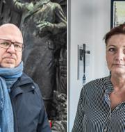 Karl-Petter Thorwaldsson, LO:s ordförande och Marie Nilsson, förbundsordförande IF Metall, två av debattörerna.  TT