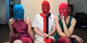 Medlemmar i Pussy Riot övar inför aktion 2012. Sergey Ponomarev / TT / NTB Scanpix