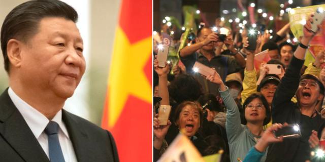 Kinas president Xi Jinping/Anhängare till Tsai Ing-wen TT