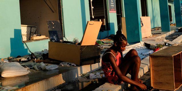 Stor förödelse efter orkanen Dorian.  MARCO BELLO / TT NYHETSBYRÅN