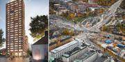 Pressbild och bild från centrala Stockholm.  HSB och TT