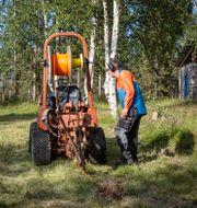 Bredband installeras i Norrbotten. Arkivbild. Helena Landstedt/TT / TT NYHETSBYRÅN