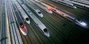 Arkivbild. Snabbtåg i Kina. TT / NTB Scanpix