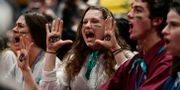 Demonstranter i Madrid. CRISTINA QUICLER / AFP