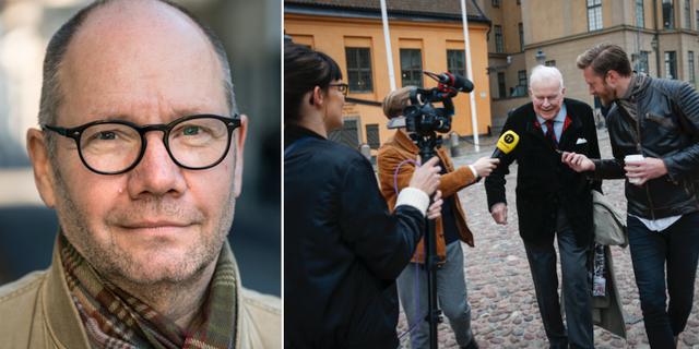 Peter Englund och Kjell Espmark. TT