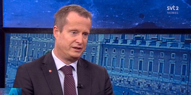 Anders Ygeman i Aktuellt-studion. SVT