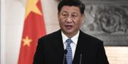 Kinas president kommenterar för första gången det nya coronaviruset. Arkivbild. AP/TT
