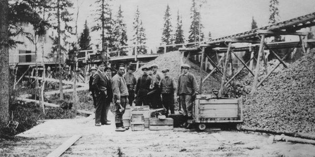 Fågelmyran utanför Skellefteå. Här startade guldruschen i Sverige på 20-talet. Senare kom Kreuger att göra affär på guldet. Foto: Boliden. Foto: Boliden.