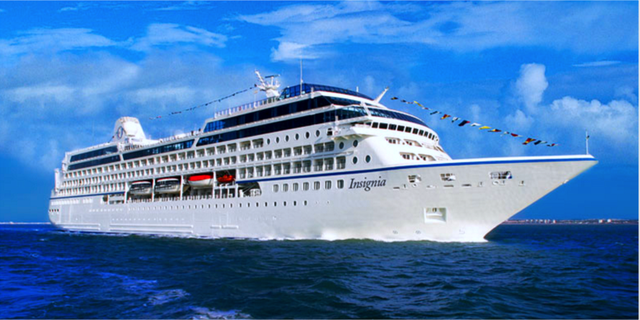 Fartyget Insignia blir ditt hem i 180 dagar om du bokar världens längsta kryssning. Oceania Cruises