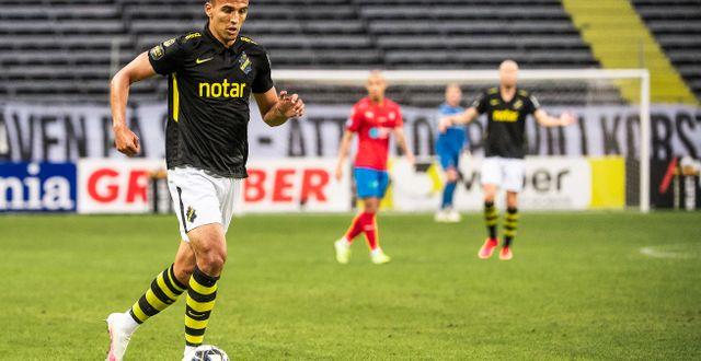 Nabil Bahoui under en match mot Helsingborg inför tomma läktare på Friends arena. JOHANNA LUNDBERG / BILDBYRÅN