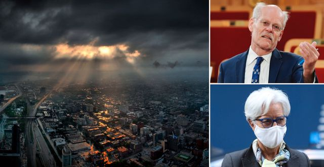 Till vänster: Illustrationsbild över Toronto. Till höger: Stefan Ingves och Christine Lagarde.