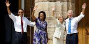 Barack och Michelle Obama samt Joe och Jill Biden år 2008. Alex Brandon / TT NYHETSBYRÅN