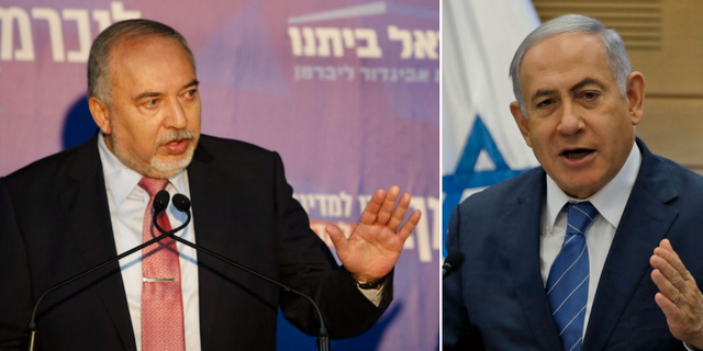 Gantz och Netanyahu. TT