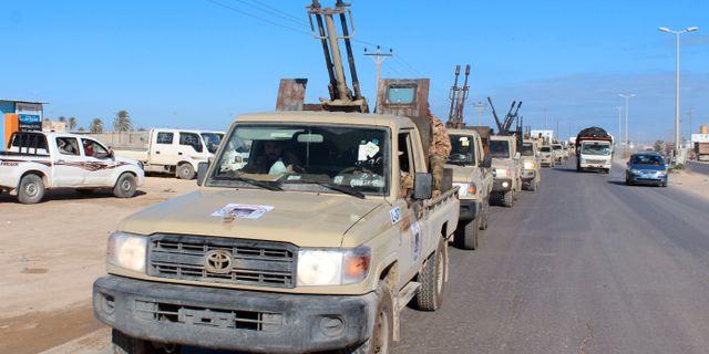 Militärfordon i Misrata i Libyen.  AYMAN AL-SAHILI / TT NYHETSBYRÅN