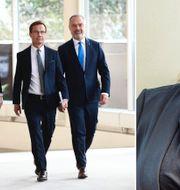 De tidigare Alliansledarna och Rebecca Weidmo Uvell. TT