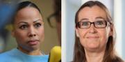 Alice Bah Kuhnke (MP) och Bodil Valero (MP). Arkivbilder. TT, Miljöpartiet.