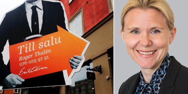 Analyschefen Lena Fahlén.  TT och Handelsbanken