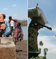 Människor i Afrika i behov av bistånd. TT