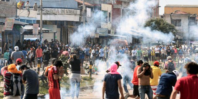 Demonstrationer i Bolivia. Stringer . / TT NYHETSBYRÅN
