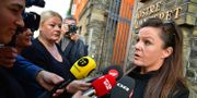 Peter Madsens försvarsadvokat Betina Hald Engmark utanför domstolen Johan Nilsson/TT / TT NYHETSBYRÅN