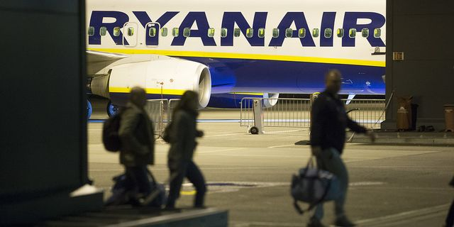 Illustrationsbild: Ryanairplan på Rygge lufthavn i Norge. TT