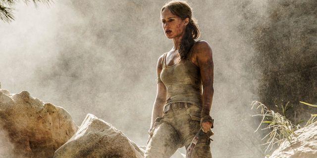 Alicia Vikander som Lara Croft. Ilze Kitshoff / TT NYHETSBYRÅN