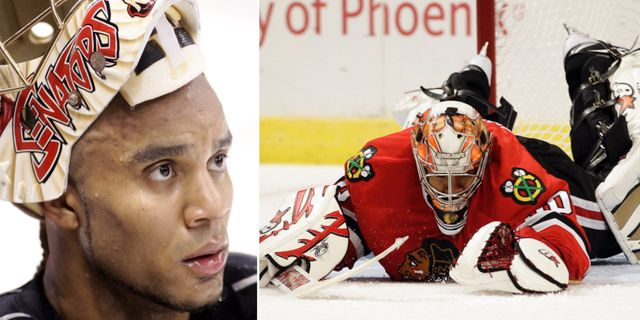 Ray Emery i aktion. Arkivbilder. TT