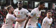 Vild glädje i United. BEN STANSALL / AFP