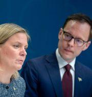 Magdalena Andersson och Liberalernas ekonomiskpolitiske talesperson Mats Persson. Arkivfoto. Janerik Henriksson/TT / TT NYHETSBYRÅN