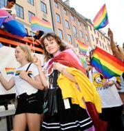 Bild från Stockholm Pride 2019. Stina Stjernkvist/TT / TT NYHETSBYRÅN