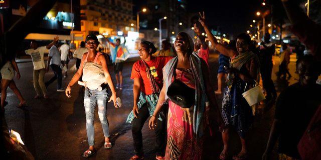 Kongoleser firar på gatorna efter utnämningen av Felix Tshisekedi  Jerome Delay / TT NYHETSBYRÅN/ NTB Scanpix