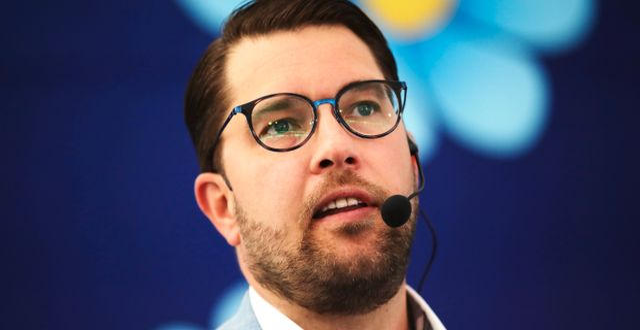 Jimmie Åkesson under Almedalsveckan 2019.  Adam Ihse /TT / TT NYHETSBYRÅN