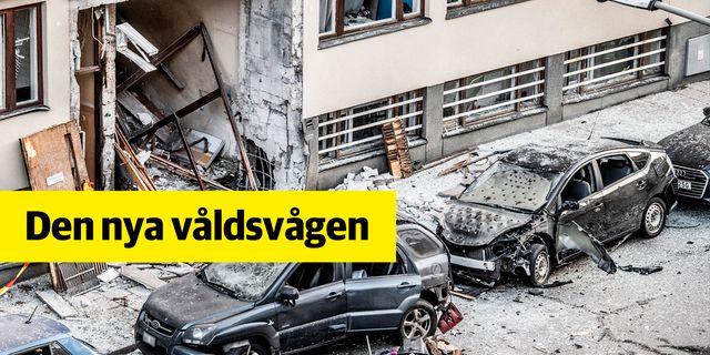 STOCKHOLM 2020-01-13 Stor förödelse efter en sprängning vid ett flerfamiljshus på Gyllenstiernsgatan på Östermalm natten till måndagen. TT NYHETSBYRÅN