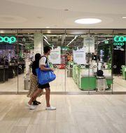 En stängd Coop butik i Stockholm på lördagen. Ali Lorestani/TT