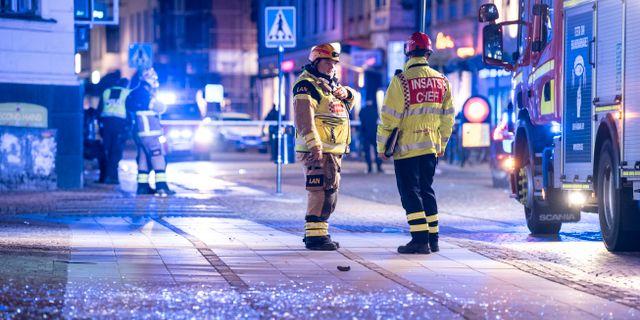 Räddningstjänst i Lund på lördagen Johan Nilsson/TT / TT NYHETSBYRÅN