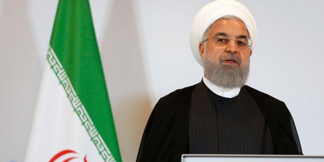 Irans president Hassan Rouhani. Arkivbild. Peter Klaunzer / TT NYHETSBYRÅN