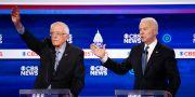 Joe Biden och Bernie sanders  Patrick Semansky / TT NYHETSBYRÅN