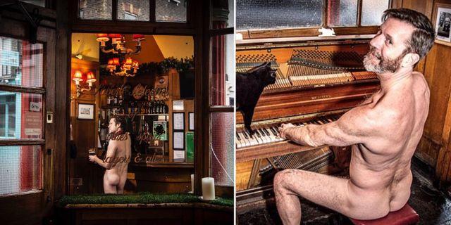 Londons första nudistbar ligger mitt i Soho. Coach & Horses