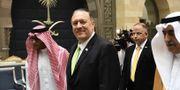 Mike Pompeo besökte i veckan Saudiarabien för att diskutera det spända läget. TT
