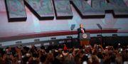 Donald Trump talar på NRA:s årsmöte. Mike Stewart / TT / NTB Scanpix