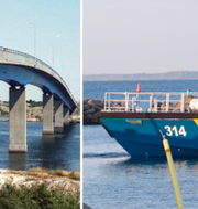 Olyckan inträffade under Fotöbron som går mellan Hönö och Fotö. Arkivbilder. Lars Engström/Wikipedia/TT