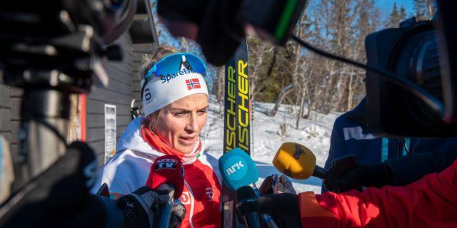 Therese Johaug under träning i Åre. Terje Pedersen / TT NYHETSBYRÅN