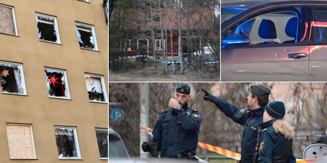 Sprängning på Östermalm / Mord i Vallentuna/ Dödsskjutning i Kungens kurva TT
