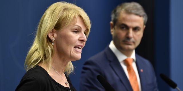 Utrikeshandelsminister Anna Hallberg och näringsminister Ibrahim Baylan. Henrik Montgomery/TT / TT NYHETSBYRÅN